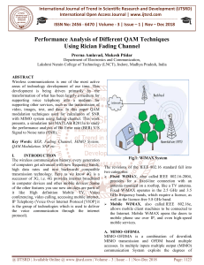 Performance Analysis of Different QAM Techniques Using Rician Fading Channel