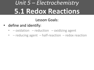 5.1 Redox Reactions