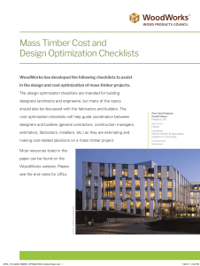 wood solution paper-Mass-Timber-Design-Cost-Optimization-Checklists