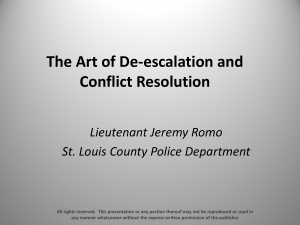 The Art of De-escalation and Conflict Resolution