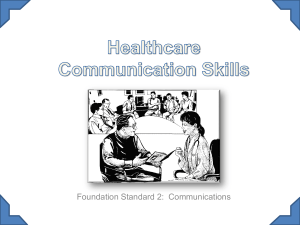 2 PP Healthcare communication skills