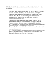 written report info for parents