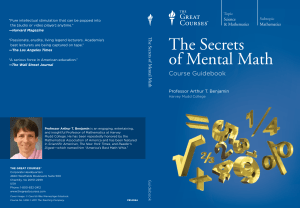 The Secrets of Mental Math by Arthur T. Benjamin