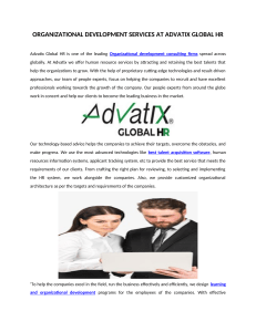Organizational Development Services At Advatix Global Hr
