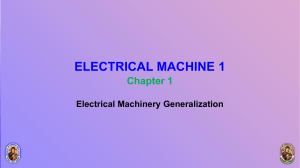 Electrical Machine 1 - Lecture