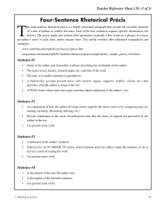 8 3 2 rhetorical precis template