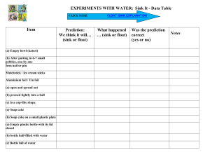 ACTIVITY SHEET FLOAT -SINK
