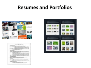 Culinary1 Portfolios, resumes, portion sizing student