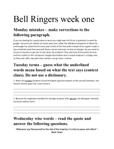 Bell Ringer Worksheet Week One (2)