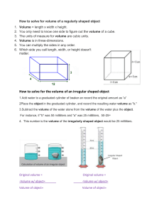 How to solve for volume - Physical science