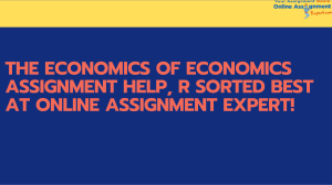 Economic Online Assignment Expert!