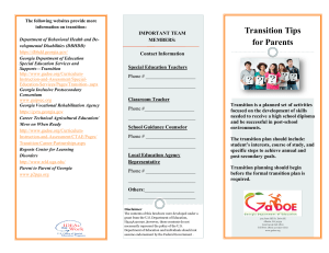 Transition Tips for Parents 8-16