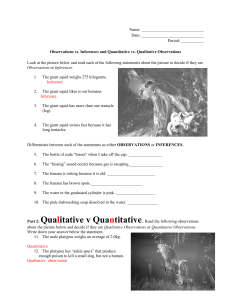 Copy of observations and inferences class practice