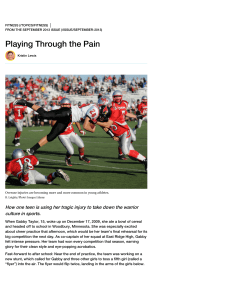 Playing Through the Pain Article