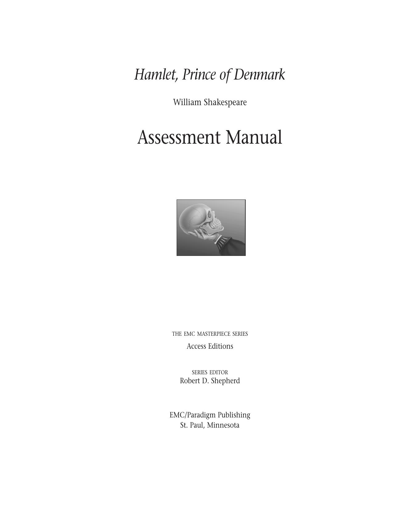 Shakespeare Hamlet Analysis Manual Guide