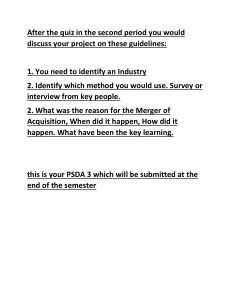 After the quiz in the second period you would discuss your project on these guidelines