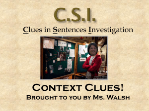 Context Clues Power Point (3)