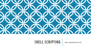 Shell Scripting - administration