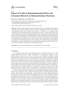 Impact of Trade-in Remanufacturing Policy and Cons