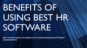 Best HR Software | Benefits of Using Best Human Resource Software | 360Quadrants