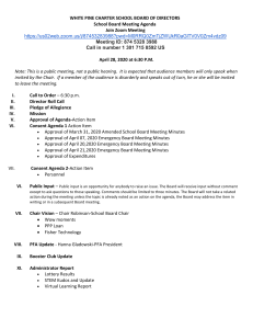 School Board Agenda Outline