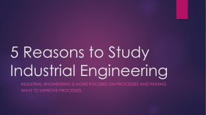 5 Reasons to Study Industrial Engineering Reflective Practice