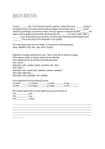 Quality Adjectives Worksheet