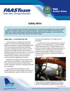 SE Topic 20-05 Safety Wire
