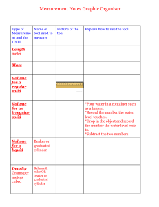 Measurement Notes Graphic Organizer
