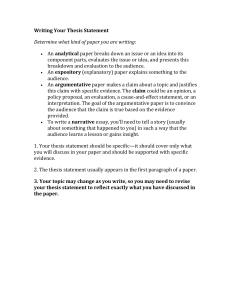 Writing Your Thesis Statement (2) (2)