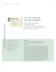 The New Corporate Social Responsibility
