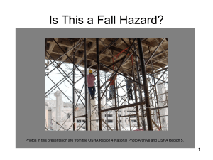 falls hazard recognition