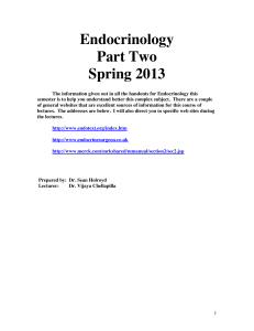 Endocrine Essential Notes 2