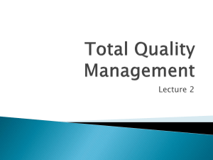 Total Quality Management (Lecture 2)