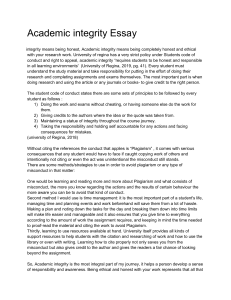 Academic integrity Essay