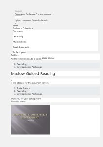 Maslow Guided Reading questions