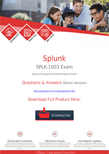 Authentic [2020 New]Splunk SPLK-1003 Exam Dumps PDF