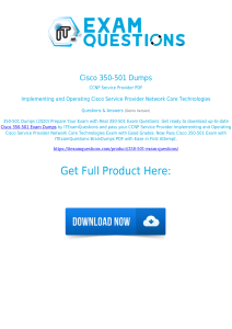 Cisco 350-501 Exam Dumps [2020] Real Questions PDF