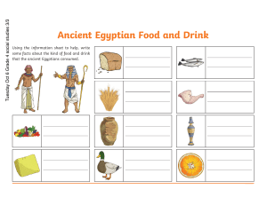 Ancient Egyptian Food and Drink Differentiated Activity copy