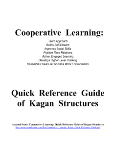 cooperative-learning-activities - Kagan strategies