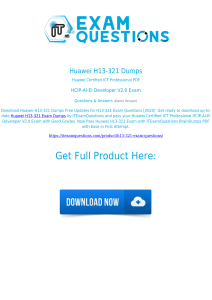 Huawei H13-321 Exam Dumps [2020] Real Questions PDF