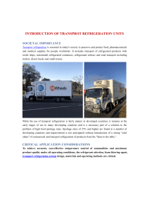Introduction of Transport Refrigeration Units