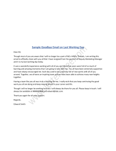How to Write A Goodbye Email on Last Working Day