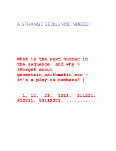 Math: A strange sequence