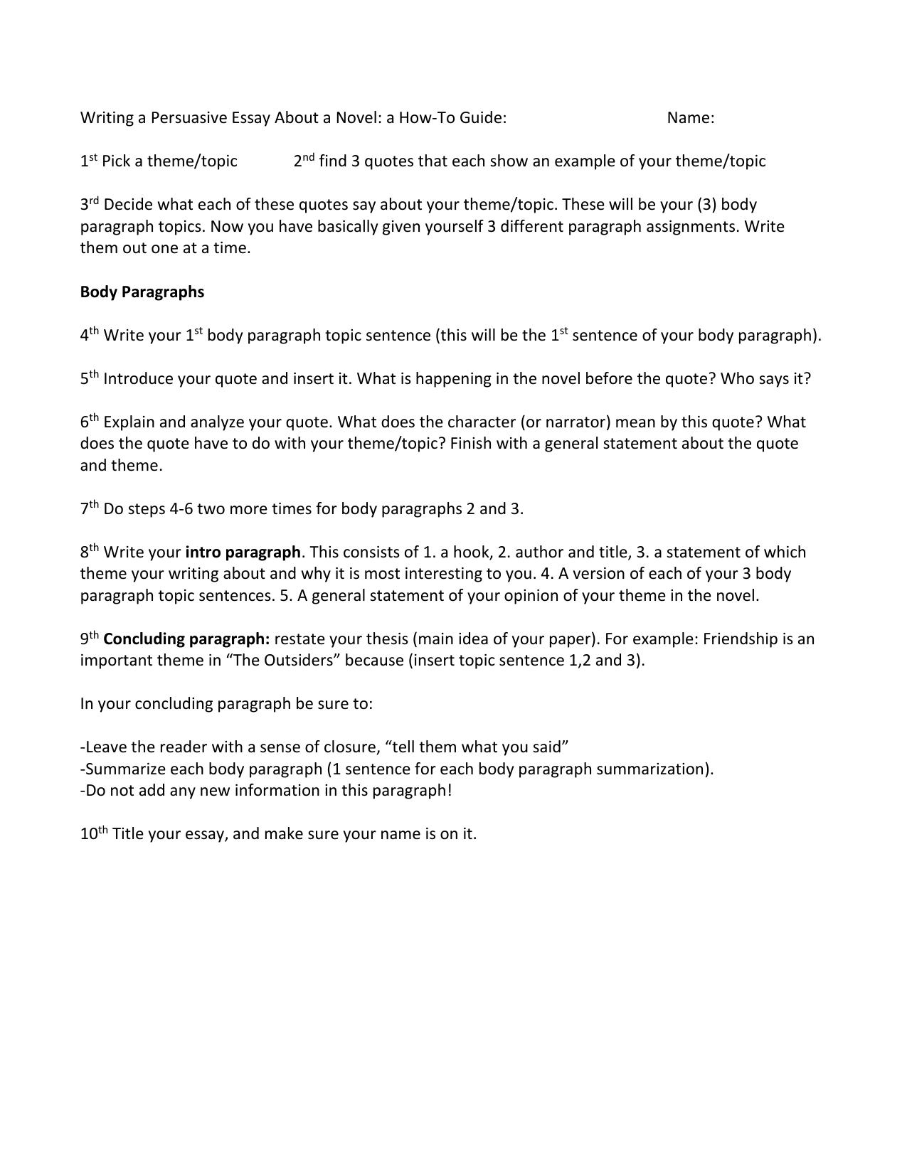 how do you write a persuasive essay