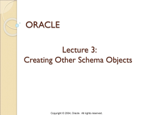 Oracle-lecture-3