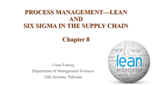 PROCESS MANAGEMENT—LEAN AND SIX SIGMA Ch 8-converted