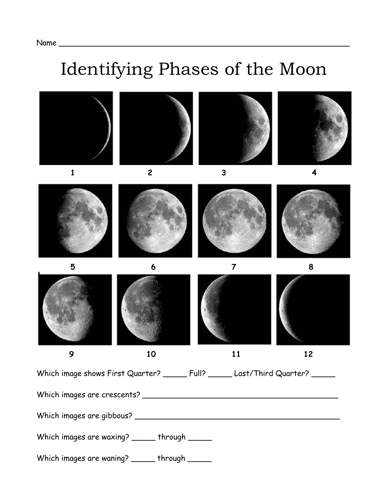 Moon+Phases+Worksheets Intended For Moon Phases Worksheet Pdf