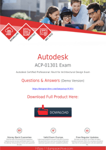 Latest [2020 New]Autodesk ACP-01301 Exam Dumps PDF