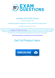 Autodesk ACP-01301 Exam Dumps [2020] Actual Questions PDF